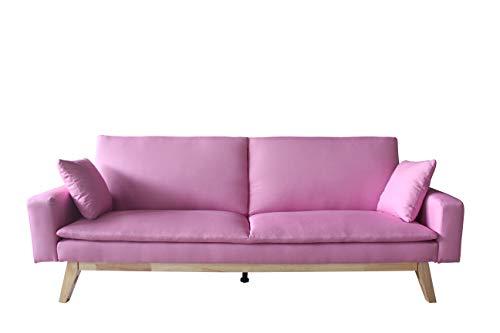 Mueblix Sofa Cama Sonora (Rosa)