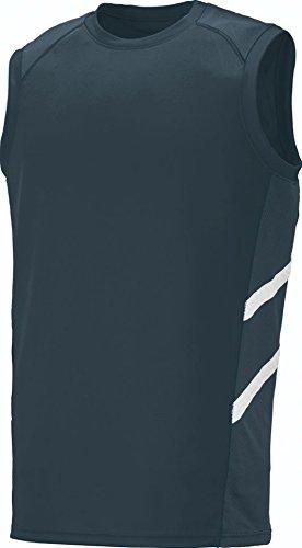 Augusta Sportswear Men'S Oblique Sleeveless Jersey S Slate/Slate/White (Jersey Augusta Sleeveless)