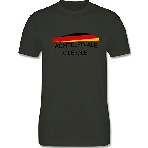 EM 2016 - Frankreich - Deutschland Achtelfinale Olé Olé - Herren Premium T-Shirt Army Grün