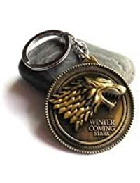 Games Of Thrones'winter Is Coming Stark' Logo Keychain Golden