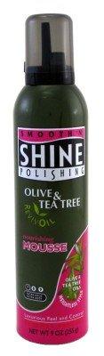 Smooth 'N Shine Mousse capillaire à base d'huile d'olive et d'extraits de mélaleuca - Tenue extra ferme - 255 g