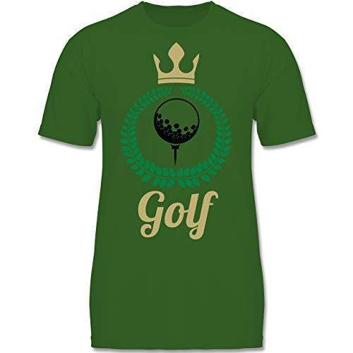Sport Kind - Lorbeerkanz Krone Golf - 134-146 (9-11 Jahre) - Grün - F140K - Jungen T-Shirt