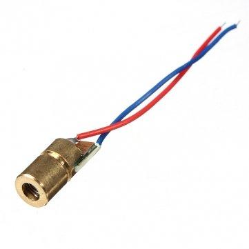 [Spedizione gratuita 7~12 giorni] 1 pc 650nm 6 millimetri 3v 5mw mini modulo di diodi puntino rosso testa wl // 1 Pc 650nm 6mm 3V 5mW Mini Dot Diode Module Head WL R