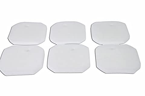 Generisch Weißer Feiner Filterschwamm für Eheim 2616225 Professional 2222/2324 und Experience 150/250/250T (6 Stück)