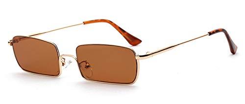 WDXDP Sonnenbrillen Retro Eckige Sonnenbrille Für Herren Schwarz Braun Metallgestell Rote Sonnenbrille Für Damen Sommer Accessoires Uv 400 Wie Abgebildet In Fotobraun