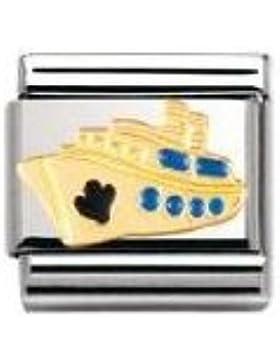 Nomination Composable Classic TECH Edelstahl, Email und 18K-Gold (Kreuzfahrtschiff) 030210