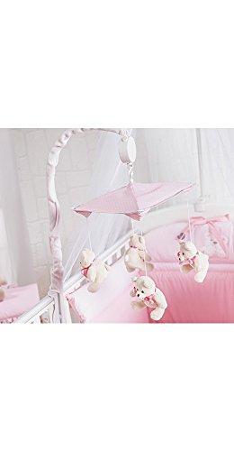 giostrina musicale per lettino con carrillon mami colore rosa