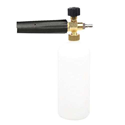 3,5 Unzen Spray (Barlingrock Schneeschaum Lanze, Sprayer Auto waschen 1/4 Auto Reinigung Schaum Pistole Waschen Wasser Seife Shampoo Sprüher Kanone Seife Flasche Topf DruckWaschmaschine Jet Auto waschen 1L)