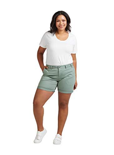Zizzi Damen Sommer Shorts Straight Fit Kurze Hose Sommerhose Große Größen 42-56