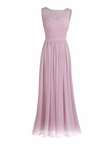 YiZYiF Elegant Damen Kleid Festliche Kleider Brautjungfer Hochzeit Party Abschlussball Cocktailkleid...