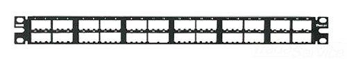 Panduit-snap (Panduit cpp48hdwbly 48-Port Flach High-Density Patch Panel, schwarz)