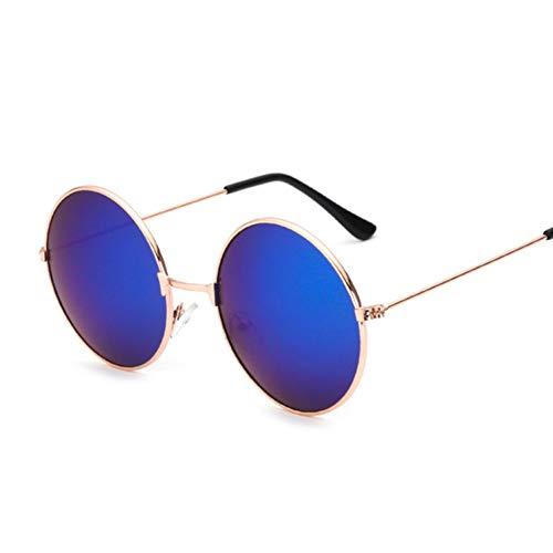 Chudanba Kleine runde Sonnenbrille-Frauen-Weinlese-Marken-Schatten-männliche Schwarze Metallsonnenbrille für weiblichen Modedesigner,2