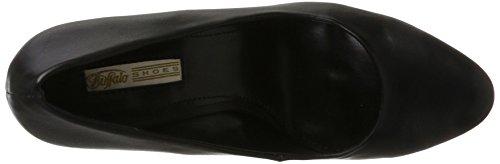 Buffalo Damen C404b-1a P1735a PU Pumps Schwarz (Black 01)