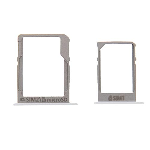 CHQM SIM-Karte einlegen PH-SIM-Kartenfach und Micro-SD-Kartenfach für Galaxy A3 / A300 & A5 / A500 & A7 / A700 (Schwarz) (Farbe : Weiß)