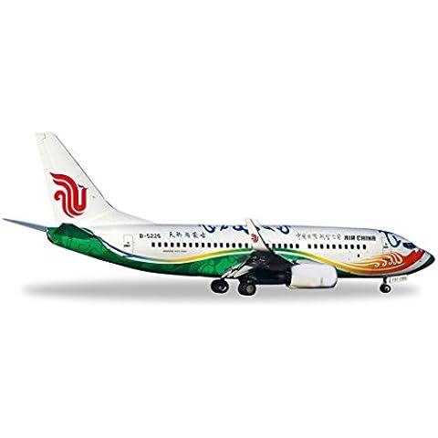 Herpa 528023 Air China Boeing 737-700 Hijo orgulloso del Cielo Mongolia Interior B-5226 1: 500 Modelo fundido a