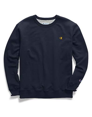 Champion Crew Sweatshirt (Champion Mens Powerblend® Fleece Pullover Crew (S0888 407D55) -Navy/Team -S)