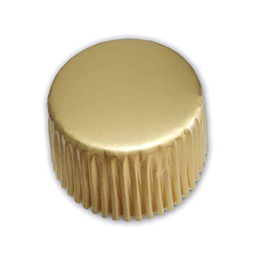 Gold Folie Metallic Muffin Cupcake Liners Papier Fall Backförmchen 500PCS, Standard Größe