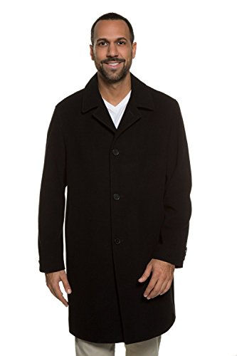 JP 1880  Wollmantel, Manteau Homme, Noir, XXXX-Large - Herren-winter-mäntel Plus Size