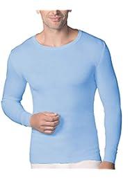 Abanderado - Camiseta térmica de manga larga y cuello redondo para hombre
