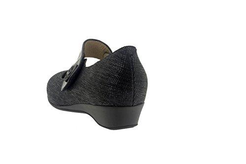 Scarpe donna comfort pelle Piesanto 7726 basse casual comfort larghezza speciale Marino