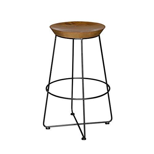 Massivholz Barhocker, Retro Runde Hohe Hocker Esszimmerstuhl Für Restaurant Küche Bar Lounge Bereich Sitzhöhe 75 CM KADJ -