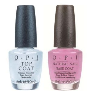 Natural Top Coat & Base Coat Nail Polish Treatment Duo 2 x 15ml