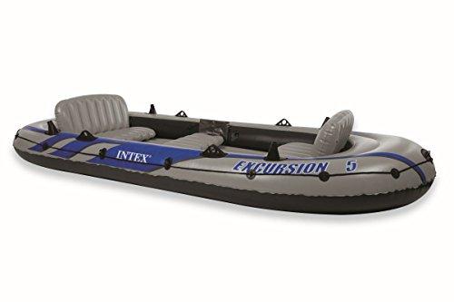 Intex Boot Schlauchboot Paddelboot Excursion 366x168x43cm für 5 Personen