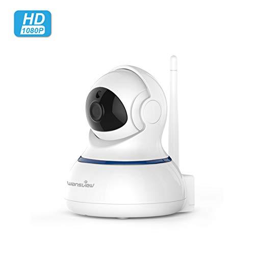 Wansview 1080P HD WLAN IP Kamera, Überwachungskamera mit Schwenk- und Neige, 2-Wege Audio und Nachtsicht Sicherheitskamera Home Indoor-Kamera für Haustier/Baby Monitor Q3S (Weiß)
