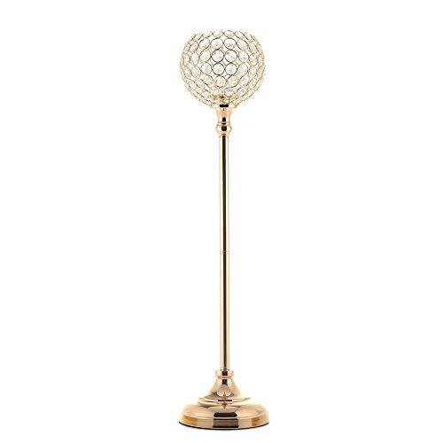 erzenständer Hochzeit Teelichthalter Kerzenhalter Weihnachten Dekoration Mittelstücke Gold 70cm Kandelaber ()
