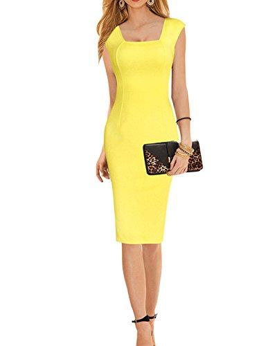 Cocktailkleid gelb knielang