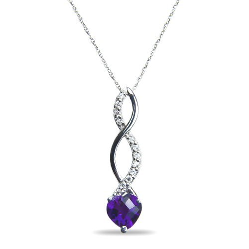 womens-05ct-diamond-pendant-complementary-chain-with-amethyst-in-10k-white-gold-by-nissoni-jewelry
