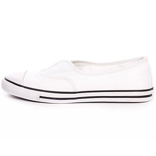 Converse Mandrini 551516C Chuck Taylor All Star Cove Slipper Bianco Bianco Nero White