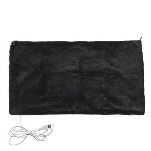 Heated Blanket Elektrisch Beheizter Überwurf Über Decke Elektrische Erwärmung Hals Schulter USB Heizung Schal,Black