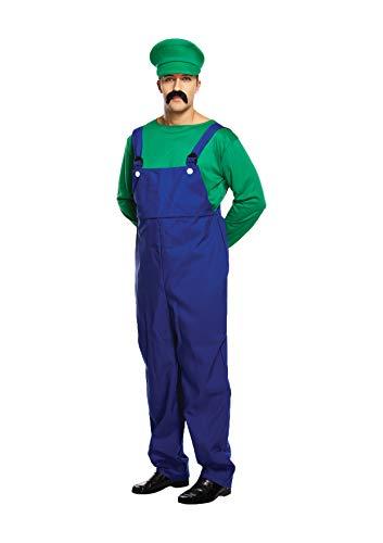 SUPER WORKMAN Kostüm - Grün, Herren Einheitsgröße (Mario Bros Kostüme Uk)
