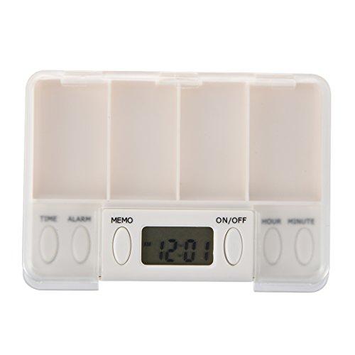 Zeit Pille Erinnerung (SODIAL(R) Multi-Alarm Zeit Tablette Pillen Erinnerung Medizin Box)