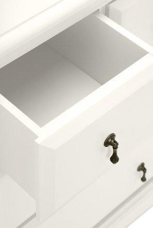 CLP Sideboard LUANA mit 7 Schubladen, im Landhaus-Stil, Maße 125 x 42 cm, Höhe 86,5 cm weiß - 3
