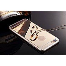 Little Sky (TM) High Qualität superdünn Luxus Spiegel Soft TPU Rahmen Schutzhülle Cover, iPhone 6Plus/6s Plus(5.5