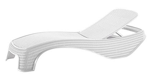 Viscio trading atlantic lettino, bianco, 197x74x36 cm