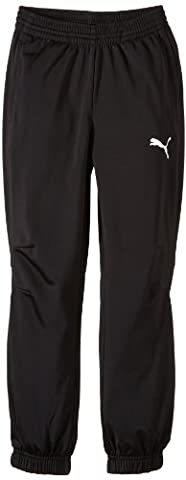 Puma Tricot Pantalon Garçon Noir/Blanc FR : 16 ans (Taille Fabricant : 176)