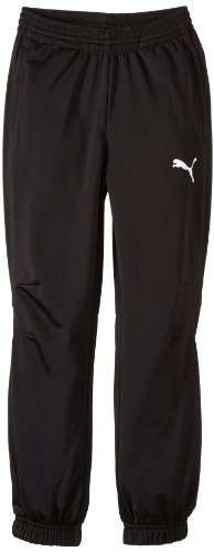 PUMA Kinder Hose Trikot Pants, black-white, 116, 653974 03