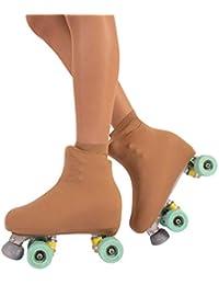 Cubrepatin para Niña y Mujer | Funda Patin/Skate | Professional Skating | Natural, Negro | 70 DEN | S, M, L | Calcetería Italiana |