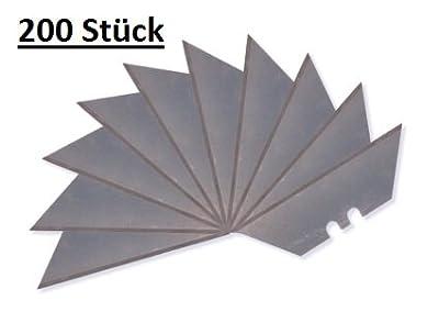 200 Stück DKB Trapezklingen Cuttermesser 18 mm Cutterklingen Cutter Klingen Messer