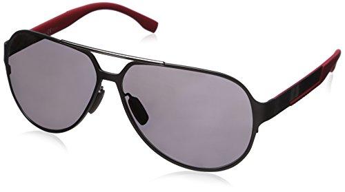 BOSS Hugo Herren 0669/S 3H 32P Sonnenbrille, Grau (Ruthenium Carbon Red/Grey Pz), 63