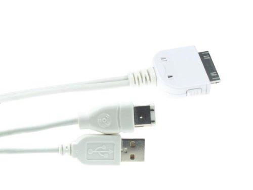 Velleman 695002 iPOD Dockingkabel, USB2.0, Firewire Ipod Firewire-usb