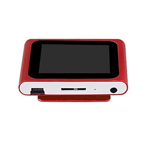 SO-buts LCD-Bildschirm 6. Mp4-Player FM-Radio Videospielfilm Unterstützung Micro SD TF Musik 15 Stunden XT Lesen (Rot) Microsd-mobile Xt