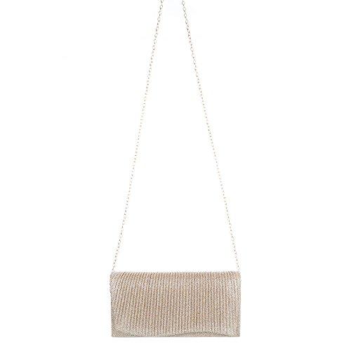 Ital-Design, Borsetta da polso donna Gold