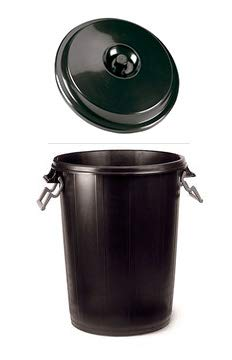 Chiner - Cubo Basura Comunidad Plastico Negro 100