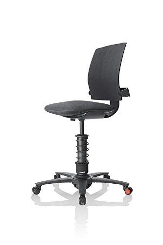 3Dee ergonomischer Bürostuhl/Chefsessel, Bezug: Mikrofaser in Farbe schwarz, Feder: COMFORTPLUS in schwarz