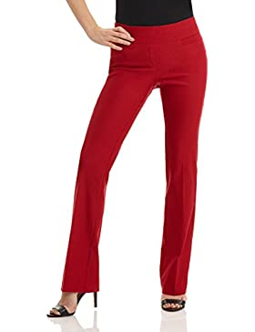 Rekucci Pantalon Bootcut Siempre Comodo de Mujer