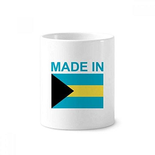 DIYthinker Hegestellt in Bahamas Land Liebe Zahnbürste Stifthalter Tasse Weiß Keramik Tasse 12 Unzen 4 Zoll hoch x 3 Zoll Durchmesser Mehrfarbig Bahama Becher